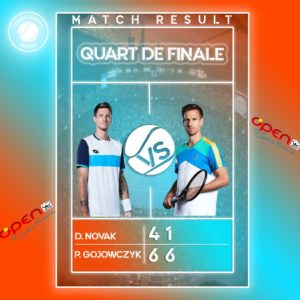 DEMI FINAL - TOURNOIS OPEN SUD DE FRANCE : Dennis Novak / Peter Gojowczyk- TENNIS SPIRIT